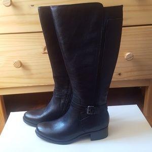 NWOT Naturalizer Wynnie Wide Calf Black Boots